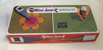 1970's Mini Sew R Sew R Sewing Machine As seen on TV in Original Box  SHP