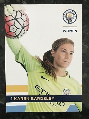 Manchester City Women Karen Bardsley Player Postcard 2017 Season ** Mint **
