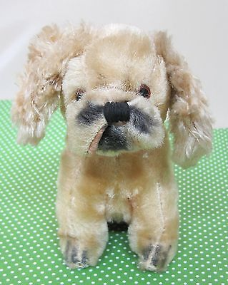 Older Japan Mohair Puppy Dog 5 In Tall Cavalier King Charles Spaniel NICE! SHP