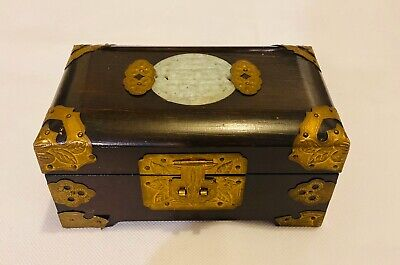 Vintage Japanese Chinese Asian Musical Jewlery Box Wooden Classic Style