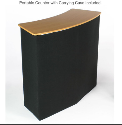 "43""w Portable Counter with Inner Shelves - Black"