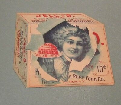1902 Strawberry Jello Box Shaped Victorian Trade Card Booklet Genesee Pure Food
