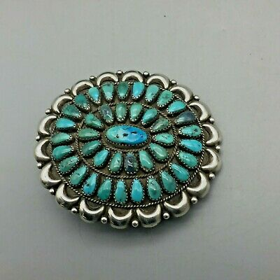 Beautiful! A Vintage Turquoise Cluster Belt Buckle!