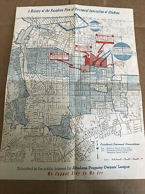 Pasadena Annexation Of AltaDena California Map. 1946. Property Owners League