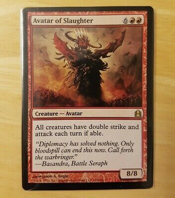 AVATAR OF SLAUGHTER Commander 2011 MTG Red Creature — Avatar RARE