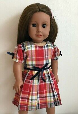 "18"" Inch Doll Girl Tartan Dress American Girl Our Generation"