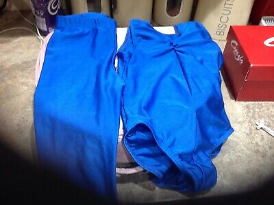 Roche Valley Dance Leotard And Tights Size 1 Blue