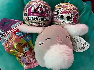 LOL Surprise SPRING BLING Set Big Sister & Hops Kit-Tea Pet Squishmallow Radz