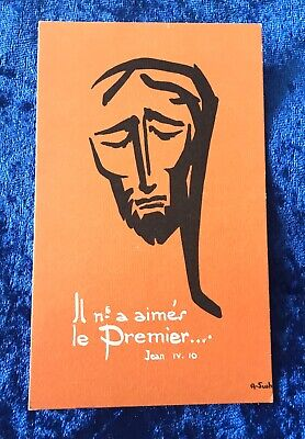Vintage Antique Belgium 1967 Ste Blandine Religious Holy Prayer Card Catholic