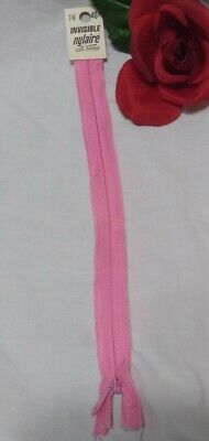 """Vintage PINK SCOVILL 7"""" - 9"""" Invisible Nylaire Coil Zipper"""