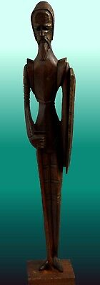 "Tall Standing ""Don Quixote"" Wood Carving Figurine"