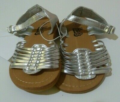 BNWT H&T KMart Girl's Sandals Shoes Silver Pretty Multiple Sizes