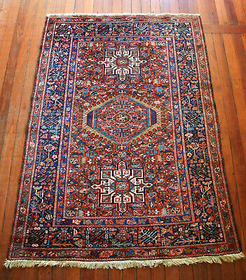 Antique Hand Knotted Karaja Wool Pile Rug Circa 1930