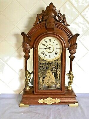Antique American Ansonia Windsor 8 Day Mantle Clock In Excellent Working