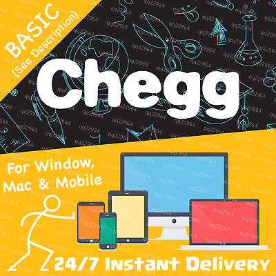 🟠 Chegg 30-Day BASIC Private Subscription Account—Chegg Study
