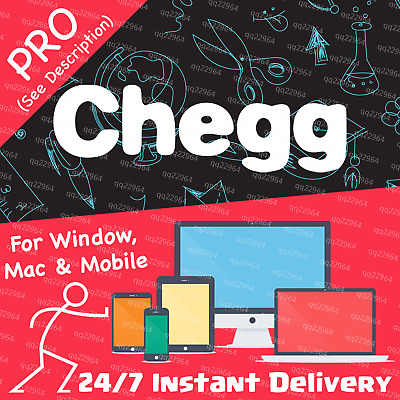 🔴 Chegg 30-Day PRO Private Subscription Account—Chegg Study Pack+Tutor