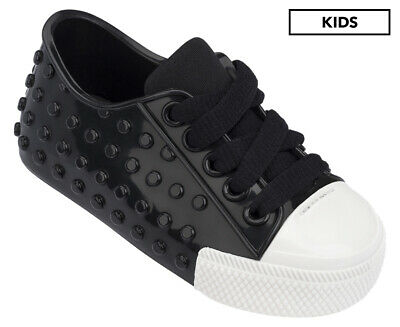 Mini Melissa Kids' Polibolha III Shoe - Black/White Gloss	AA295