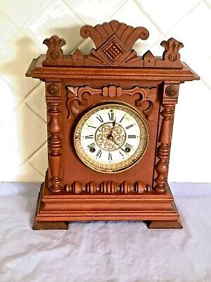 Antique American Ansonia Seneca C1894 8 Day Mantle Clock In Excellent Working