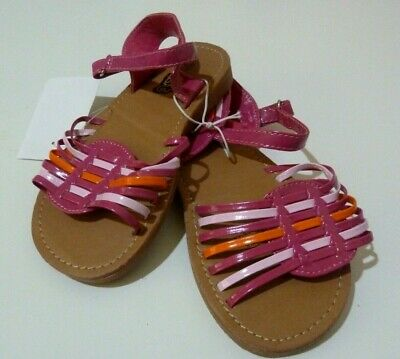 BNWT H&T KMart Girl's Sandals Shoes PINKS Pretty Woven Front