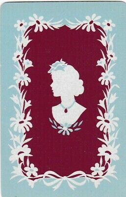 Vintage; Lady ... Swap Playing Card.