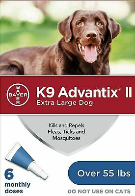 K9 Advantix II: Extra Large Dogs (Blue), 6 Dose