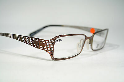 New TIGER OF SWEDEN Smart Perforated Brown Metal Color Glasses Frames Size Large