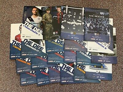 15/16 14 x Dundee HOME Programmes