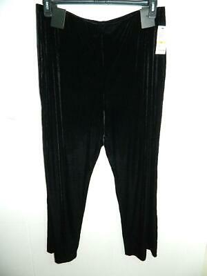 Alfani Women Plus Black Wide Leg Velvet Pull On Pants NWT Sz 3X X 31 MSRP $79 A