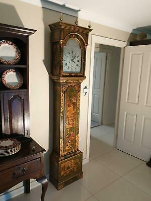 A Very Rare English Chinoserie George Iii Longcase (Grandfather) 8 Day