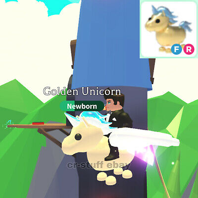 Adopt Me! ROBLOX - GOLDEN UNICORN FLY AND RIDE