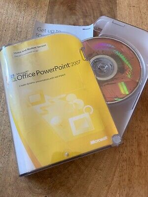 Microsoft office 2007 Powerpoint - Retail Box - With Product Key