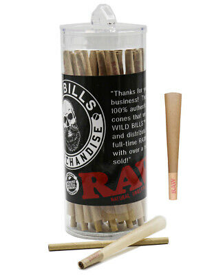 RAW Cones Classic 1 1/4  63 Pack  Natural Pre Rolled Rolling Paper with Tip