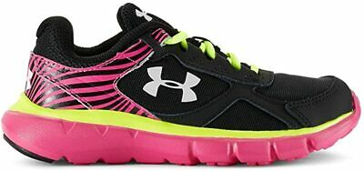 Under Armour Kids Girls' GPS Velocity RN Running Shoe, Black/Pink, 6 M US