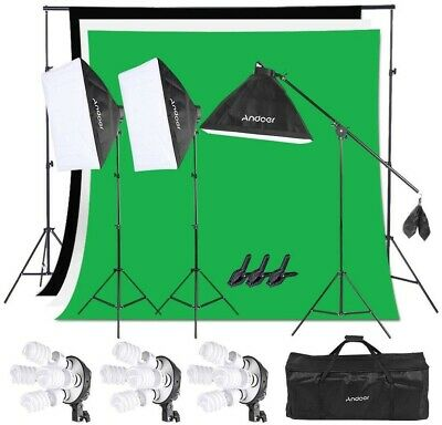 Andoer Lighting Kit, Photography Studio Softbox Light Kit and 6.6ftx10ft...