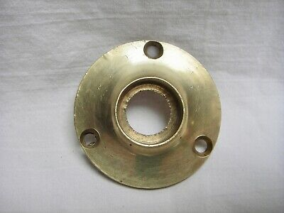"NOS Antique Brass 1 3/4"" Diameter Door Knob Rosette Round Back Plate"