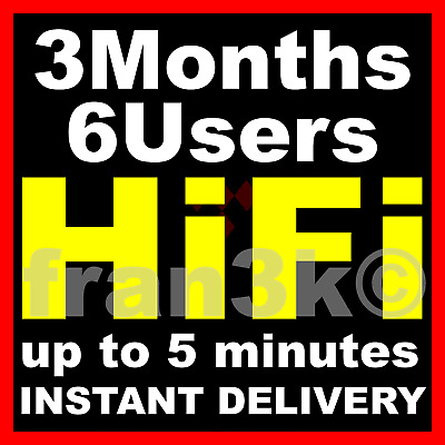 TIDAL Hi-Fi Master FAMILY Plan | 3 Months GUARANTEED 6 Users | INSTANT DELIVERY