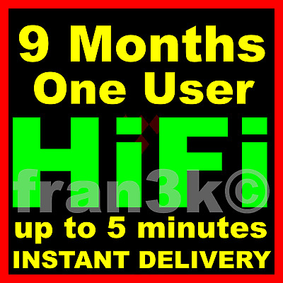 TIDAL Hi-Fi Master || 9 Months GUARANTEED One User || INSTANT 5 min DELIVERY