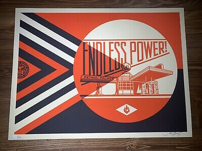 Shepard Fairey Obey Giant Bad Reputation Cream Art Print Poster Signed LE 350