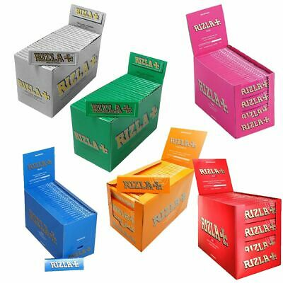 50 RIZLA BLUE GREEN PINK RED SILVER NATURA LIQUORICE - Regular Rolling Papers