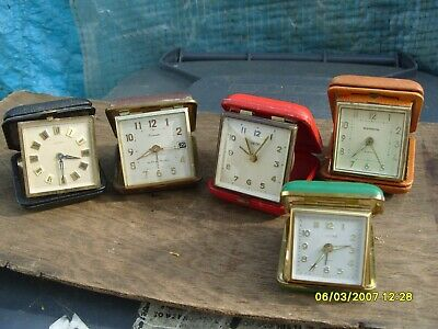 Clock Parts Vintage  Travel  Alarm  Clocks