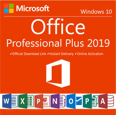 Microsoft Office 2019 Professional Plus -Download and Key 32/64 Bit