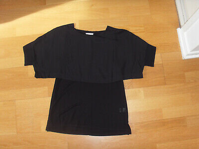 """""""WITCHERY"""" Black Overlay Top, Size XS"""