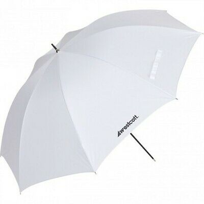 (Set of 3) Optical White Satin Diffusion Umbrella 43""