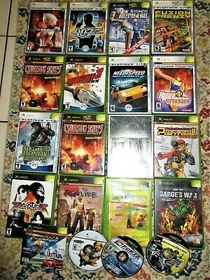 Original Microsoft Xbox Huge Game LotX21 Out Run 2 Need For Speed Cases&Manuals