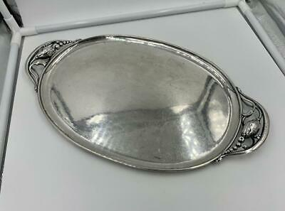 Rare 1933-1944 Georg Jensen Blossom Tray 2 Antique Denmark Sterling Silver
