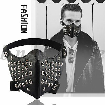 Punk Rivet Half Face Shield Anti-dust Motorcycle Mouth Cover Outdoor Cycling