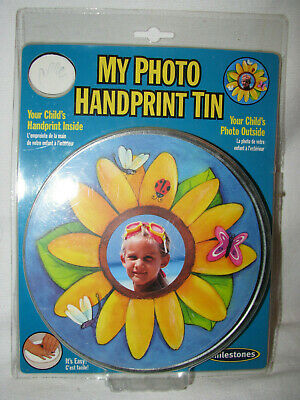 NEW Milestones My Photo Handprint Tin Kit