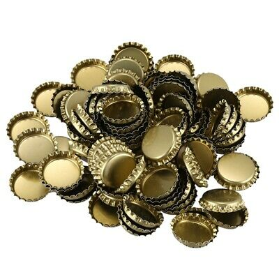 4X(100 Double-Sided Color Flattened Beer Caps Decorative Craft Caps DIY Jew 9G3)
