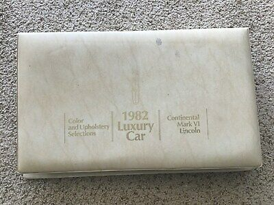 1982  Lincoln original dealership  showroom  large color and upholstery album.