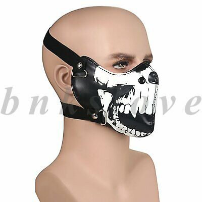 Seal Skull Half Face Mouth Cover Anti-dust Motorcycle Biker Protection Shield